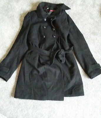 Black lined maternity coat H and M size small