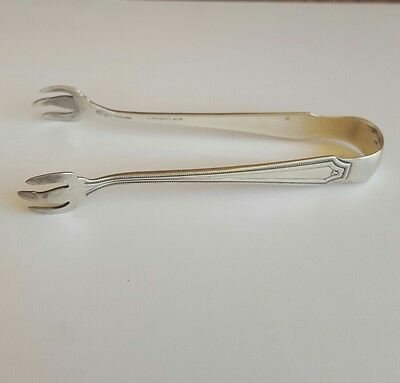 Antique Alexander Stowell & Co.(Whiting) Sterling Silver Sugar Tongs, Ice tongs