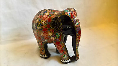 Decorated carved wooden Elephant