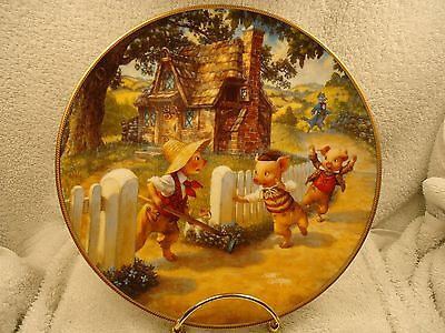 "Knowles Fairy Tale ""Three Little Pigs"" Collector Plate w/ COA"