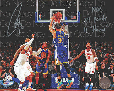 Stephen Curry signed Golden Warriors 8X10 photo picture poster autograph RP 3