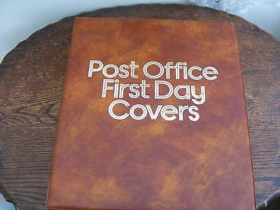 Post Office 4 Ring  First Day  Cover Album With 17 Pages