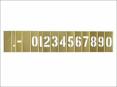 C H Hanson - 2in Brass Stencil Set Numbers 15-Piece Set