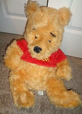 "Winnie The Pooh Large 24"" Plush Extra Plush Disney Exclusive Tag Displayed Only"