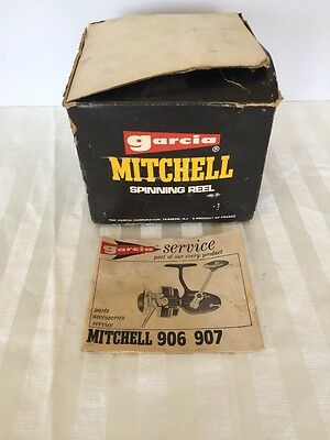 Garcia Mitchell 906 Spinning Fishing Reel Box and Instructions ONLY