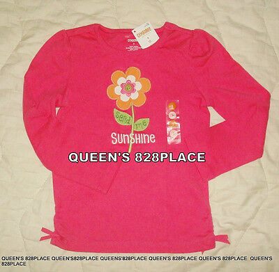 Nwt Gymboree Girls size 3 3T Growing Flowers pink flower t-shirt long sleeve top
