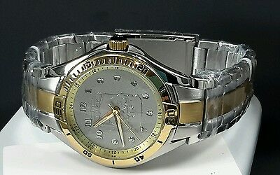 Norfolk Southern Men's Relic Fossil Watch Two Tone Water Resistant NS Watch New