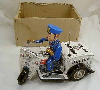 Patrol Auto- Tricycle  Police in box Made in Japan