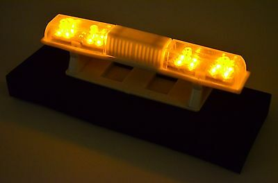 108 X 18mm Police Petrol 360° LED Light Bar for 1/10 to 1/14 RC Car - hoch GELB