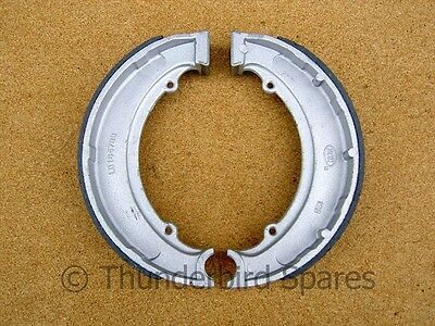 Brake Shoes, BSA, 7 inch, Pair, 1/2 width front and QD rear,1947-1955, 65-5901