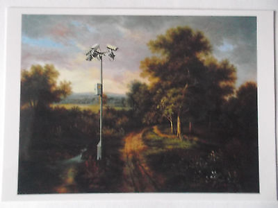 """Original Banksy Crude Oil Postcard """"modified Painting # 12"""" Mint Lim. Edition"""