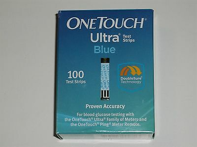 100 One Touch Ultra Blue Diabetic Test Strips Exp 03/2018 Factory Sealed Box