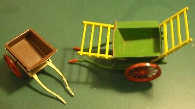 Two Vintage 1970s Britains toy farm carts