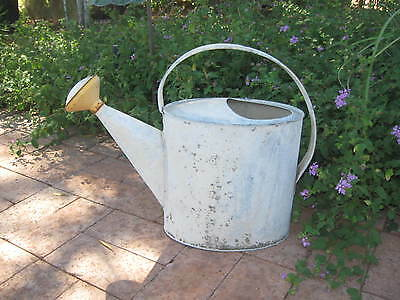 VTG Large 2-gal Galv Metal WATERING CAN #8, Rustic/Primative..NICE All Orig Cond