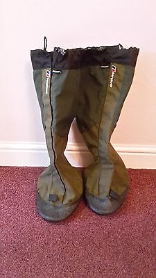 Berghaus Yeti Gaiters Large Green VGC Gore Tex