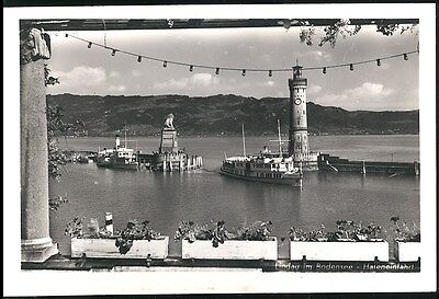 Postcard Nautical View  Linday Im  Bodensee Hafeneinfahrt Unposted