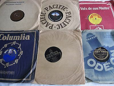 Lot de 6 Disques 78 tours                            (1)