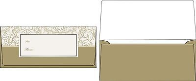 Holiday Gift/Currency Envelopes (2 7/8 x 6 1/2) - Gold Dama... NEW FREE SHIPPING
