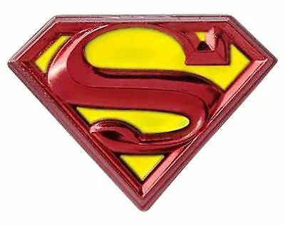 DC Comics Superman Logo Colored Pewter Lapel Pin NEW FREE SHIPPING
