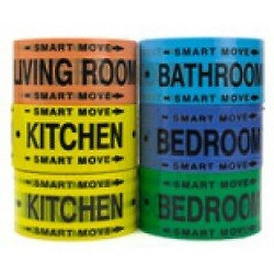 Moving Supplies - 2 Room Labeling Tape--tape for Your Bedro... NEW FREE SHIPPING