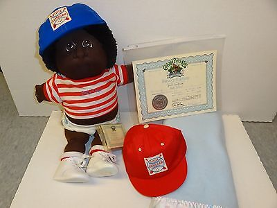 1988 CABBAGE PATCH NURSERY ED BABY TYLER SOFT SCULPTURE papers african american