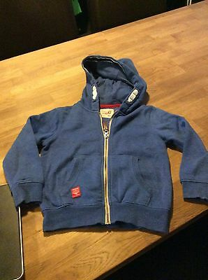 Boys Blue Next Hooded Jacket/top Age 5 Years