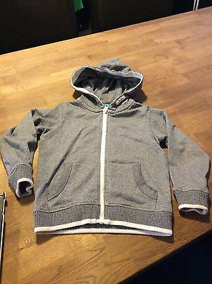 Boys M&s Age 5-6 Years Blue/grey Hooded Jacket/top