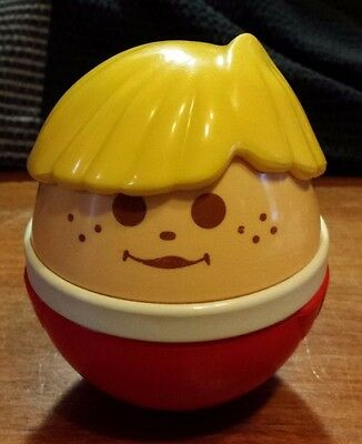 """Vintage Little Tikes Chiming  Weebles Wobble But Wont Stay Down Toy 6"""" Boy"""