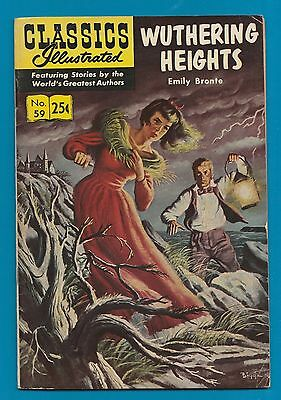 Classics Illustrated Comic Book 1969  Wuthering Heights Emily Bronte # 59.  #598