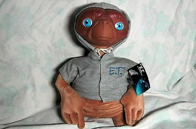 """E.T 12"""" vintage plush toy with rubber face and Tags"""