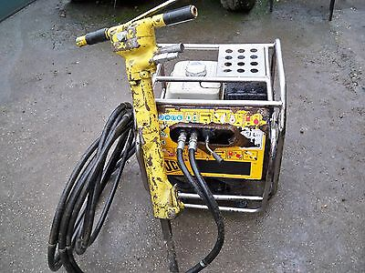 jcb beaver hydraulic power pack comes with hoses breaker and point in gc/ gwo