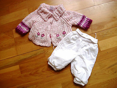 """SMOBY 24"""" toddler dolls Rosie/Roxanne etc cardigan and trousers clothes"""
