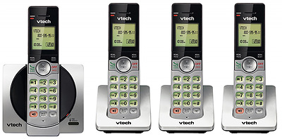 VTech DECT 6.0 Four Handset Cordless Phones with Caller ID, Backlit Keypads and