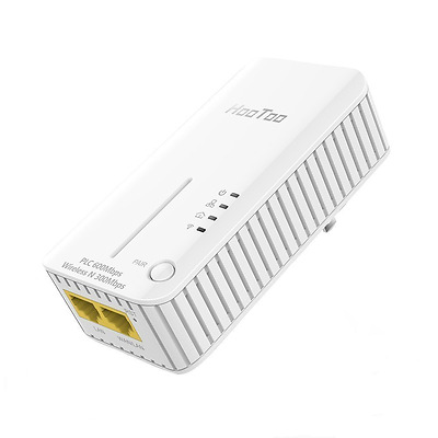 HooToo Powerline Adapter with 2 Ethernet Ports (Data Transfer Speed Up To 600Mbp
