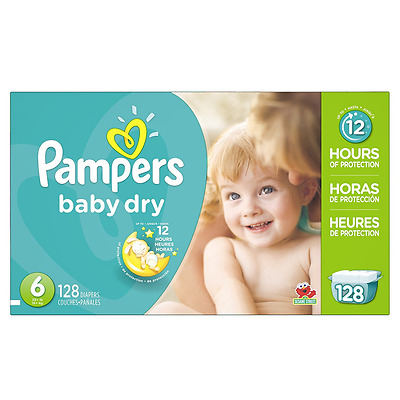 Pampers Baby Dry Diapers Size-6 Economy Pack Plus, 128-Count- Packaging May Vary