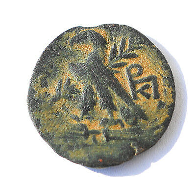 Ancient cyprus coin Cleopatra VII AE 51-30 BC, E.F COIN EXCELLENT PATINE.