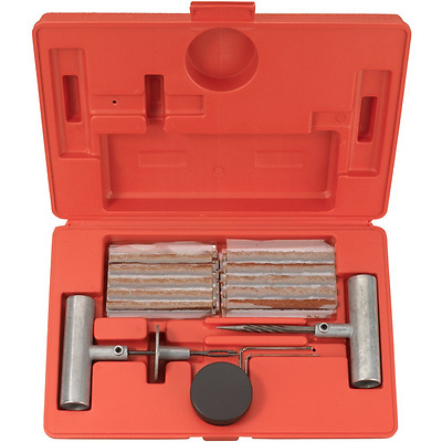 Tooluxe 50002L Tire Repair Kit Set to Plug Flat and Punctured Tires 35-Piece