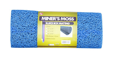 SE GP-MT415-3BL Miner's Moss Blue Color, Sluice Box Matting, 12-Inch X36-Inch 10