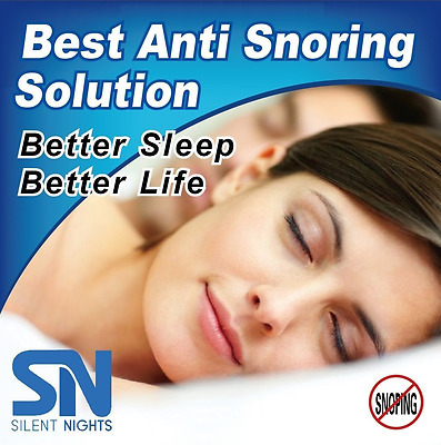 Silent Nights Anti Snore Mouth Guard – Stop Teeth Grinding – Super