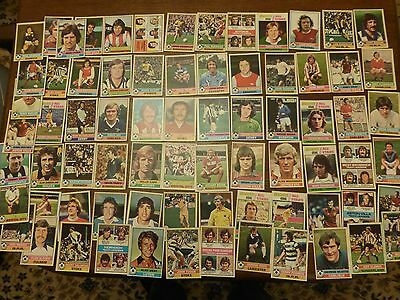 74 Topp's Footballers Red Backs Cards From 1977