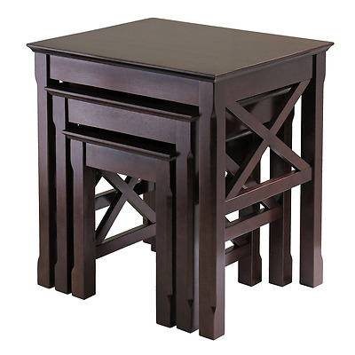 Winsome Wood Xola Nesting Table, 3-Piece