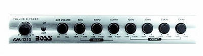 BOSS AVA1210 7 Band Pre-amp Equalizer with Subwoofer Output with Master Volume C