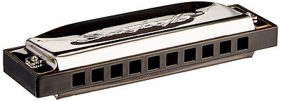 Sawtooth Chrome Plated Screamer Harmonica, Key of C with Case and Cloth