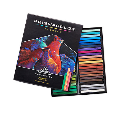 PRISMACOLOR NUPASTEL Oil Pastel, Pastel Colour Stick, Box of 48, Assorted Colour