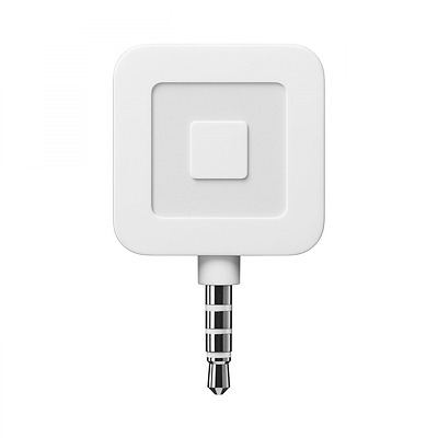 Square Mobile Credit Card Reader, White, with $10 Account Credit