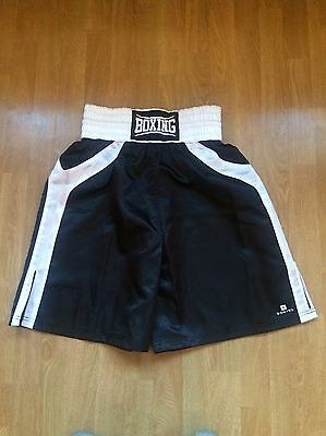Decathlon Domyos Black & White Boxing Trunks Size Small - New