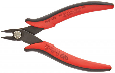 Hakko CHP-170 Micro Soft Wire Cutter, 1.5mm Stand-off, Flush Cut, 2.5mm Hardened