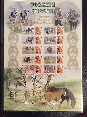 BC-115 2007 Working Horses History of Britain 11 Business Smilers Sheet