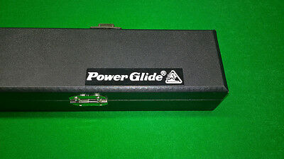 Powerglide Black Hard Case For 2 Piece Full Size Snooker / Pool Cue *new*