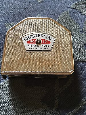 Vintage Chesterman Riband Rule Tape Number 60 England